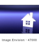 #47000 Royalty-Free (Rf) Illustration Of A 3d White House On A Textured Purple Background - Version 1