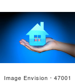#47001 Royalty-Free (Rf) Stock Photo Of A Human Hand Holding A 3d House