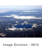 #4810 Aerial Of Crater Lake