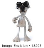 #48293 Royalty-Free (Rf) Illustration Of A 3d Jack Russell Terrier Dog Mascot Wearing Shades And Walking Forward