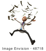 #48718 Royalty-Free (Rf) Illustration Of A 3d White Male Doctor Mascot Throwing Money - Version 3