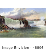 #48806 Royalty-Free Stock Illustration Of The Beach And Incline Railway At Niagara Falls