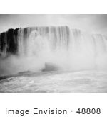 #48808 Royalty-Free Stock Photo Of A Scene Of Rushing Waters Of Horseshoe Falls From The Maid Of The Mist Niagara Falls New York