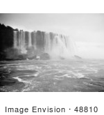 #48810 Royalty-Free Stock Photo Of A Scene Of Horseshoe Falls Niagara Falls Rushing Down Over Boulders