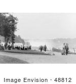 #48812 Royalty-Free Stock Photo Of People Strolling At Prospect Point Park Niagara Falls