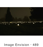 #489 Picture Of A Candlelight Vigil - Siskiyou Memorial Park Cemetery - Medford Or
