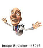 #48913 Royalty-Free (Rf) Illustration Of A 3d White Male Doctor Flying - Version 1