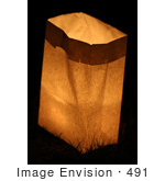 #491 Picture of a Candle Lit in a Bag During a Candlelight Vigil in Medford, Oregon by Kenny Adams
