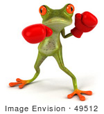 #49512 Royalty-Free (Rf) Illustration Of A 3d Red Eyed Tree Frog Boxer - Version 2