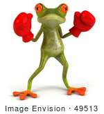 #49513 Royalty-Free (Rf) Illustration Of A 3d Red Eyed Tree Frog Boxer - Version 1
