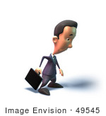 #49545 Royalty-Free (Rf) Illustration Of A 3d Businessman Mascot Pouting - Version 4