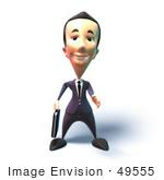 #49555 Royalty-Free (Rf) Illustration Of A 3d Businessman Mascot Reaching Out To Shake Hands - Version 4