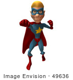 #49636 Royalty-Free (Rf) Illustration Of A 3d Superman Punching - Version 1