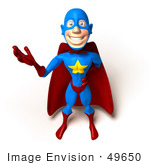#49650 Royalty-Free (Rf) Illustration Of A 3d Masked Superhero Waving - Version 2