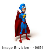 #49654 Royalty-Free (Rf) Illustration Of A 3d Masked Superhero Waving - Version 1