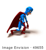 #49655 Royalty-Free (Rf) Illustration Of A 3d Masked Superhero Slouching