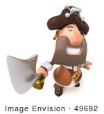 #49682 Royalty-Free (Rf) Illustration Of A 3d Pirate Holding A Sword - Pose 3