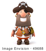 #49688 Royalty-Free (Rf) Illustration Of A 3d Pirate Facing Front