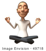 #49718 Royalty-Free (Rf) Illustration Of A 3d Young White Man Meditating - Version 1