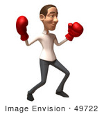 #49722 Royalty-Free (Rf) Illustration Of A 3d Young White Man Boxing - Version 4