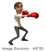 #49725 Royalty-Free (Rf) Illustration Of A 3d Young White Man Boxing - Version 3