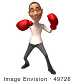 #49726 Royalty-Free (Rf) Illustration Of A 3d Young White Man Boxing - Version 5