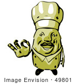 #49801 Royalty-Free (Rf) Illustration Of A 3d Chubby Chef Mascot Gesturing The A Ok Sign - Version 2