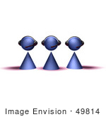 #49814 Royalty-Free (Rf) Illustration Of A Group Of Three 3d Purple Avatar Customer Service People - Version 3