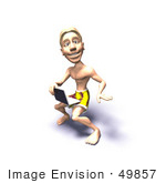 #49857 Royalty-Free (Rf) Illustration Of A 3d Surfer Guy Using A Laptop - Version 2