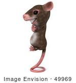 #49969 Royalty-Free (Rf) Illustration Of A 3d Mouse Mascot Perched Up On His Tail And Meditating - Version 2
