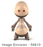 #50610 Royalty-Free (Rf) Illustration Of A 3d Robot Mascot Facing Front
