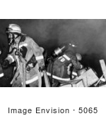 #5065 Stock Photography Of Firefighters Battling A Fire That Was Sparked Days After Hurricane Hugo