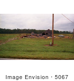 #5067 Stock Photography Of A South Carolina Farm House Destroyed By Hurricane Hugo