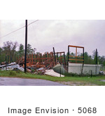 #5068 Stock Photography Of Building Destroyed Hurricane Hugo Weather