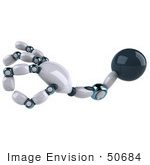 #50684 Royalty-Free (Rf) Illustration Of A 3d A Ok Futuristic Robot Hand - Version 1