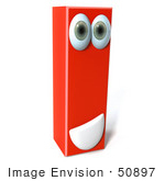#50897 Royalty-Free (Rf) Illustration Of A 3d Red Character Letter I
