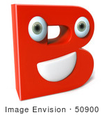 #50900 Royalty-Free (Rf) Illustration Of A 3d Red Character Letter B