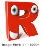 #50904 Royalty-Free (Rf) Illustration Of A 3d Red Character Letter R