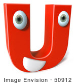 #50912 Royalty-Free (Rf) Illustration Of A 3d Red Character Letter U