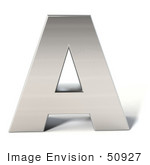 #50927 Royalty-Free (Rf) Illustration Of A 3d Chrome Alphabet Letter A