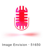 #51650 Royalty-Free (Rf) Illustration Of A 3d Pink Floating Microphone - Version 1