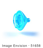 #51658 Royalty-Free (Rf) Illustration Of A 3d Neon Blue Speaker - Version 3