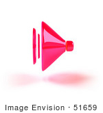 #51659 Royalty-Free (Rf) Illustration Of A 3d Neon Pink Speaker