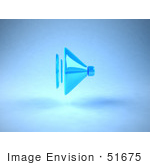 #51675 Royalty-Free (Rf) Illustration Of A 3d Neon Blue Speaker - Version 2