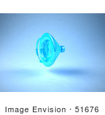#51676 Royalty-Free (Rf) Illustration Of A 3d Neon Blue Speaker - Version 1