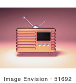 #51692 Royalty-Free (Rf) Illustration Of A 3d Pink Retro Radio - Version 1