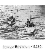 #5230 Survivors in Titanic Life Boats by JVPD