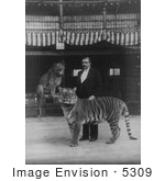#5309 Man With Lion And Tiger