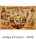 #5338 Signorita Galetti And Monkeys