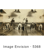 #5368 Boys Working In Bowling Alley